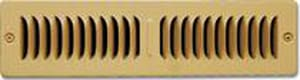 Shoemaker Manufacturing 2-1/4 x 10 in. Toe Space Grille White STS21410SW