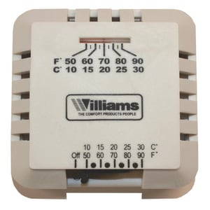 Williams Furnace MV Wall Thermostat WP322016