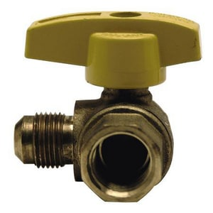 Brass Craft 3/8 x 1/2 in. OD Compression x FIP Angle Gas Ball Valve BTBVA68