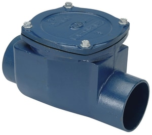 Zurn Industries 7-2/5 in. No-Hub Cast Iron Backwater Valve ZZ10904NH