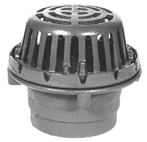 Zurn Industries 8-3/8 in. No-Hub Roof Drain with Cast Iron Dome ZZ125NH