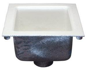 Zurn Industries 2 in. No-Hub Cast Iron Floor Sink with 1/2 in. Grate ZZ19002NH2