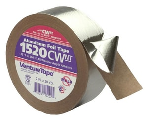 Venture Tape 150 ft. x 2-1/2 in. Aluminum Foil Tape V1520CWNTV588