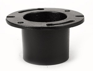 AB&I Foundry 4 x 2 in. No-Hub Closet Ring with Cap in Black NHCRCPK