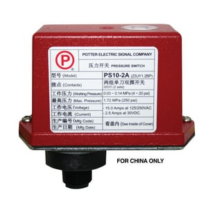 Potter Electric Signal 4-3/8 in. Contact Waterflow Pressure Switch PPS102A