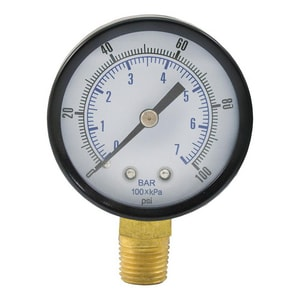 Jones Stephens 3-1/2 in. Pressure Gauge JG62