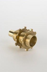 Champion-Arrowhead 1/2 in. Brass Straight Copper Sweats Showerhead Adapter with Nuts A55CC