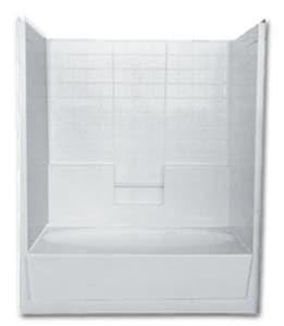 Florestone 60 x 35 in. Fiberglass Reinforced Plastic Tub and Shower in White F6036TS3WTBHWH