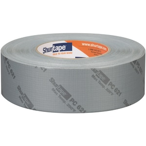 Shurtape PC 621 2 in. x 60 yd. Silver Polyethylene Heavy Duty Duct Tape SPC621K60PRINTED