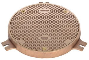 Zurn Industries Round Scoriated Access Cover in Nickel Bronze ZZANB14637