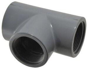 3 8 In Threaded X FIPT Schedule 80 PVC Tee Grey S805003 At