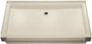 Kohler Memoirs® 60 x 34 in. Acrylic Triple Threshold Rectangle Shower Base with Rear Center Drain K9568