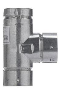 Selkirk Americas 4 in. Type B RV Round Gas Vent Tee M4RVTS