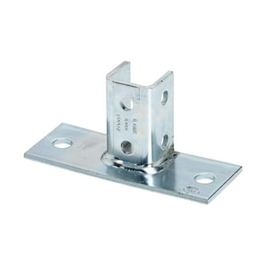 Cooper B-Line Plated Flat Post Base For B22 BB280FLZN