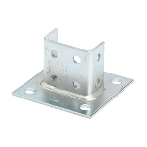 Cooper B-Line Electro-plated Zinc Square Post Base For B22-2PL BB281SQZN