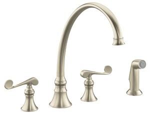 Kohler Revival® 2.2 gpm 8 in. 2-Handle Deck Mount Kitchen Sink Faucet High Arc Spout K16111-4