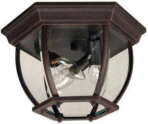 Craftmade International 60 W 3-Light Bent Glass Cast Aluminium Ceiling Mount CZ433