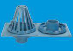 Jonespec Plumbing Cast Iron Combination Roof Drain and Overflow JRD2130NH