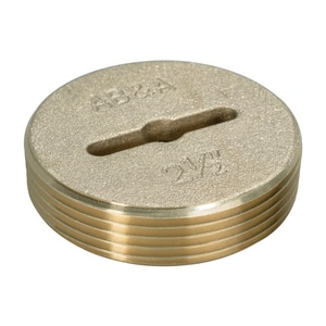 Weld-On 2-1/2 in. Countersunk Brass Plug I68651