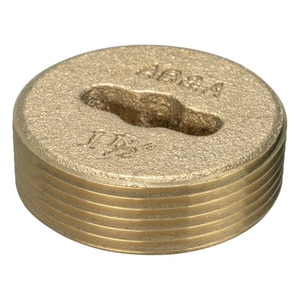 Weld-On 1-1/2 in. Countersunk Brass Plug I68828