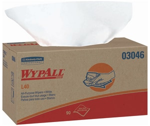 Kimberly Clark WypAll® L40 Pop-Up Wipes Box in White K03046