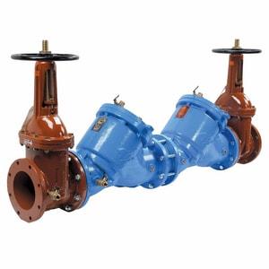 Watts Reduced Pressure Zone Double Check Backflow Preventer Outside Stem & Yoke W909OSY