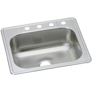 Dayton Elite Single Bowl Stainless Steel Kitchen Sink DDSE12522