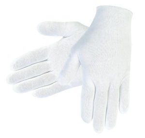 Memphis Glove Large Cotton Mens Inspection Glove in White M8600C