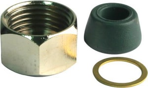 Lincoln Products 1/2 Iron Pipe Size x 3/8 Brass Faucet Nut LIN101606