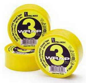 Mill-Rose 3-Wrap 3/4 in. PTFE Tape in Yellow M70830