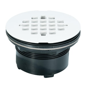 Weld-On 2 in. ABS Shower Drain with Plastic Grate I67012
