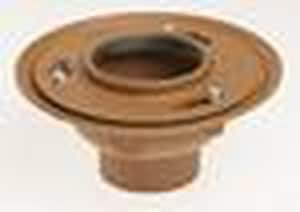 Jay R. Smith Manufacturing Floor Drain with 5 in. Top with Tamper Proof Nickel Bronze S2005LA05NBP050
