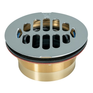 Weld-On ABS Brass Shower Drain with Stainless Steel Surefit Joint I67041