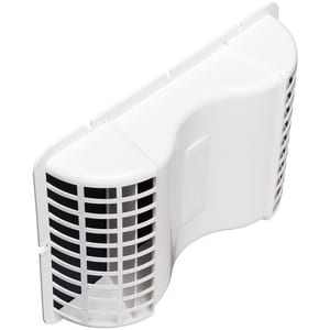 Deflecto Undereave Vent With Damper White DEVE6
