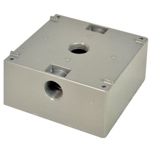 Motors & Armatures 1/2 in. Outlet 2-Gang Box with 3-Hole MAR85910