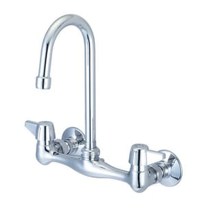 Just Manufacturing Service Sink Faucet in Polished Chrome JJS48TA1