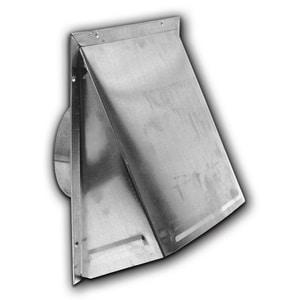 Lambro Industries Round Wall Cap W/DAMP Aluminum L346