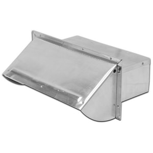 Lambro Industries 3-1/4 in. X 10 in. Wall Cap with Damper Control Aluminum L106R