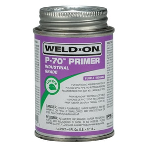 Weld-On 1/4 pt PVC Primer in Purple I10229