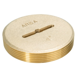 Weld-On 4 in. Countersunk Brass Plug with Slotted Heavy Duty I68654