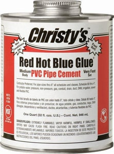 T. Christy Enterprises Red Hot Blue Glue Lever Operator Volatile Organic Compound in Blue CRHRHBV