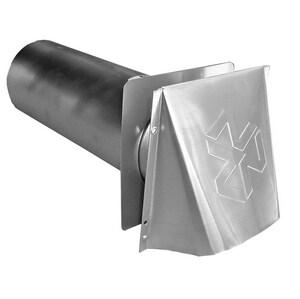 Builder's Best 4 in. Dryer Vent Hood Aluminum B110277