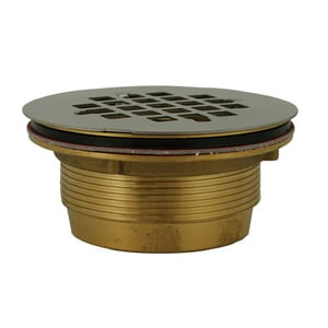Jones Stephens 2 in. Brass No-Caulk Shower Drain Stainless Steel JD40140