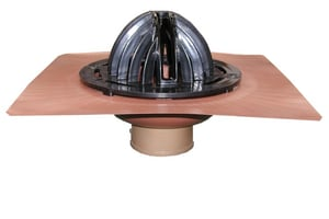 Thunderbird Bottom Outlet Copper Roof Drain TRDNH
