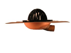 Thunderbird 3 in. Copper Roof Drain with Horizontal Outlet TRDHZ3NH