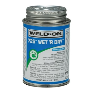 Weld-On 1/4 pt PVC Medium Body Cement in Aqua Blue I10850