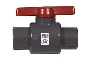 King Bros 73 Degree F PVC Schedule 80 Ball Valve KLT0750S