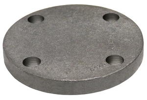 1-1/2 in. Flanged x Threaded 125# Black Cast Iron Flange BCIBFJ