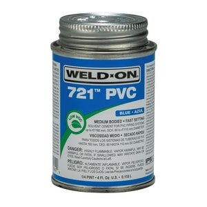 Weld-On 1/4 pt PVC Medium Body Cement in Blue I10849