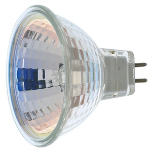 Satco 12V 4400K 2-Pin Miniature Round Base Halogen Flood Lamp in Clear SS1962